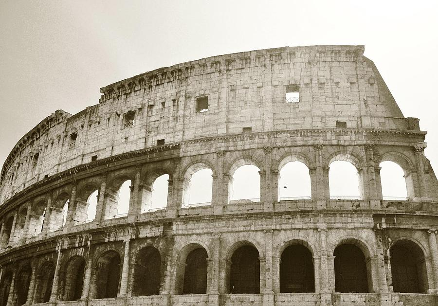 Rome Photograph - Coloso - Sepia by Heather Marshall