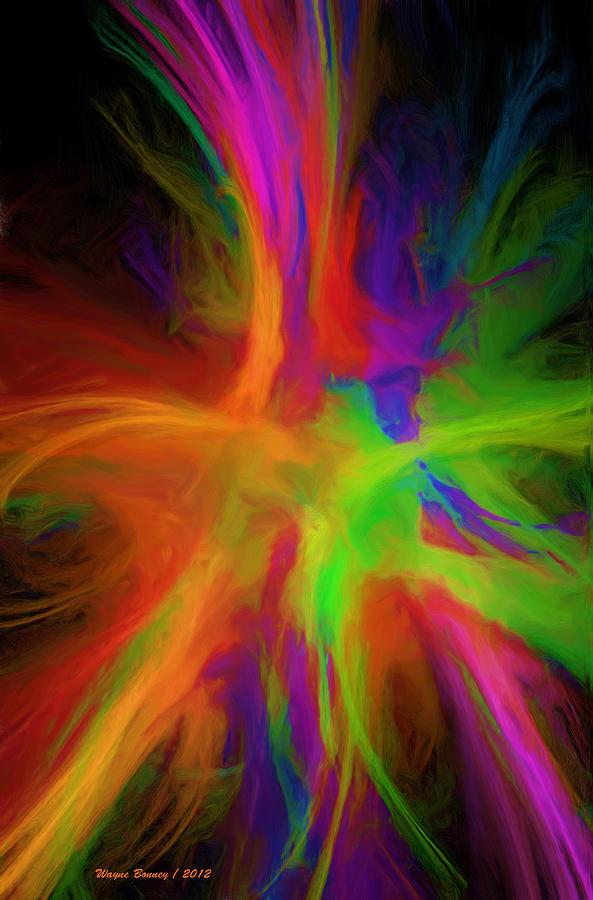 colour explosion painting by wayne bonney