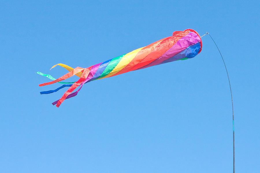 Blue Photograph - Colourful Flag by Tom Gowanlock