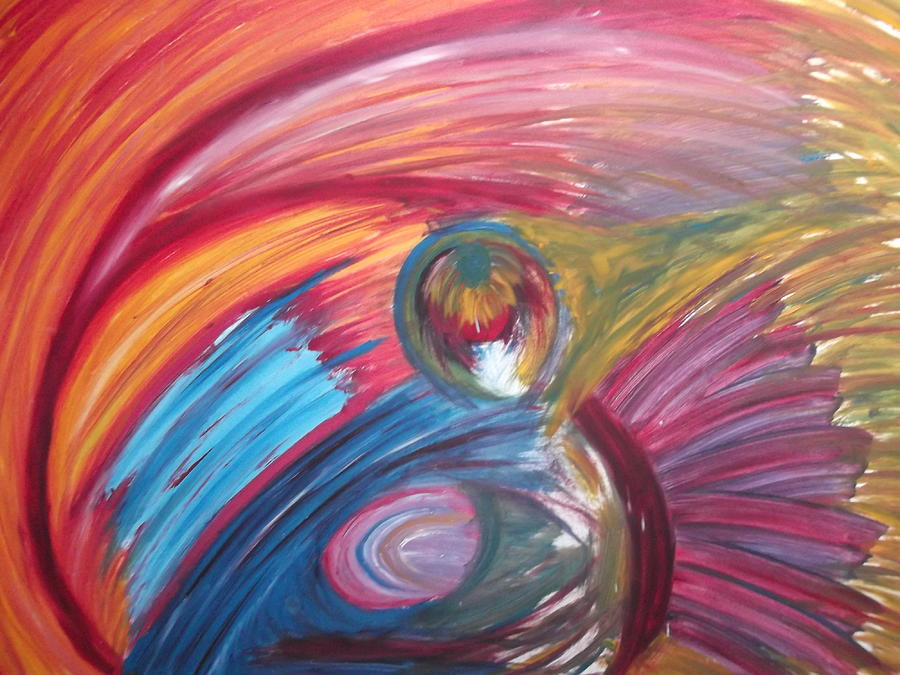 Bright Painting - Colourful Mess by Sharon Tuff