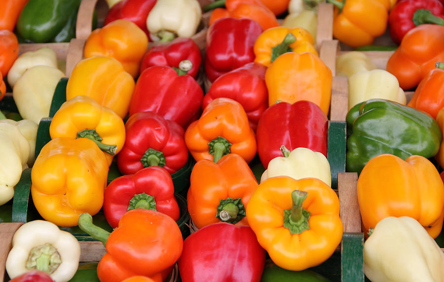 Bell Photograph - Colourful Peppers by Kim French