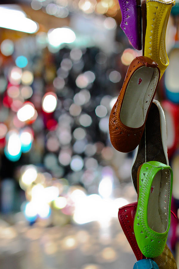 Shoes Photograph - Colourful Shoes Morocco by Geraint Rowland