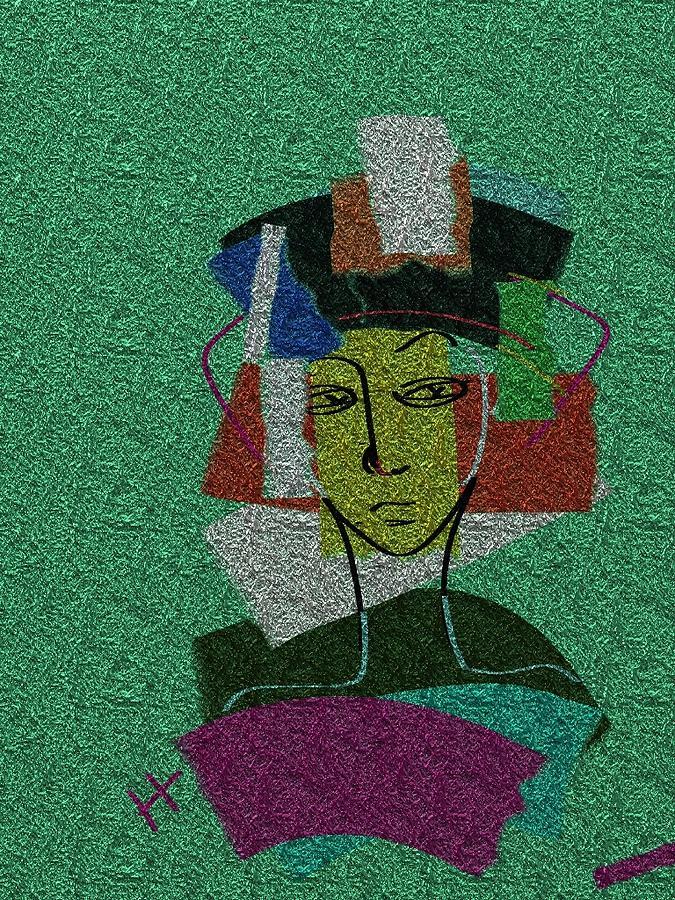 Digital Painting Digital Art - Colours Of My Woman by Hayrettin Karaerkek