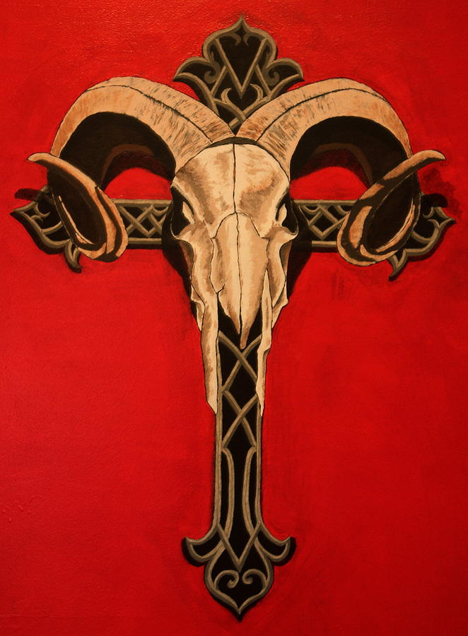 Cross Painting - Combined Faiths by Shawn OLeary