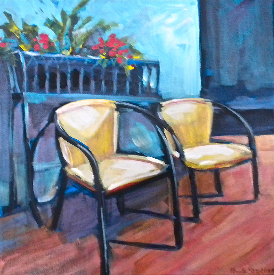 Chairs Painting - Come Relax by Paula Strother