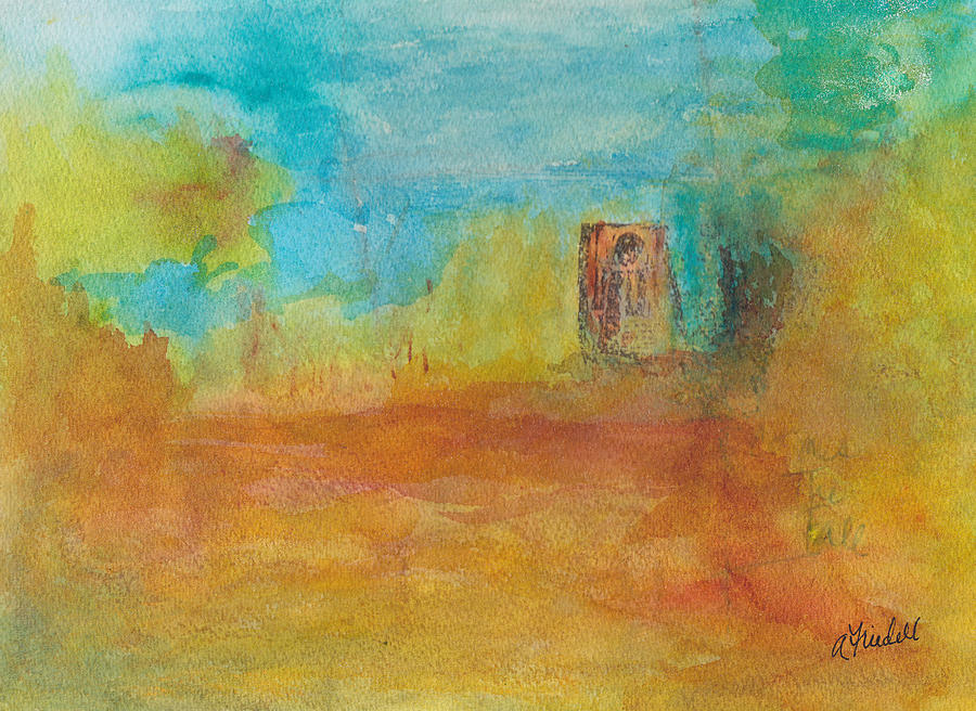 Abstract Landscape Painting - Comes The Fall by Andrea Friedell