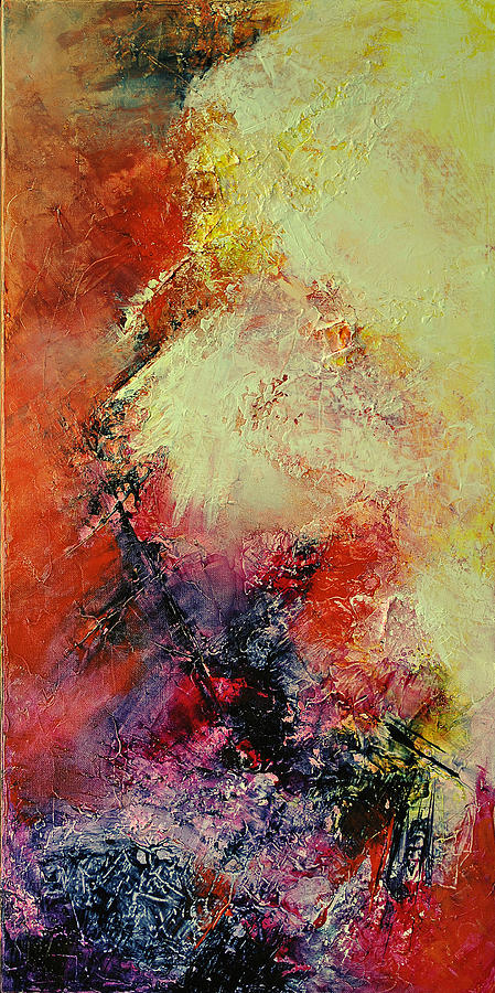 Abstract Painting - Comete by Francoise Dugourd-Caput