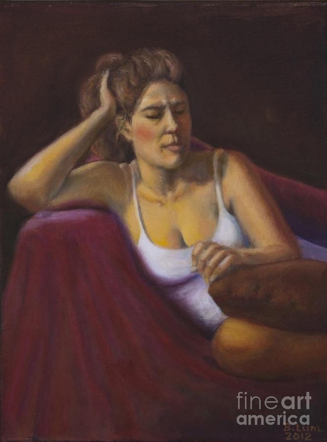 Portrait Painting - Comforably Numb by Bruce Lum
