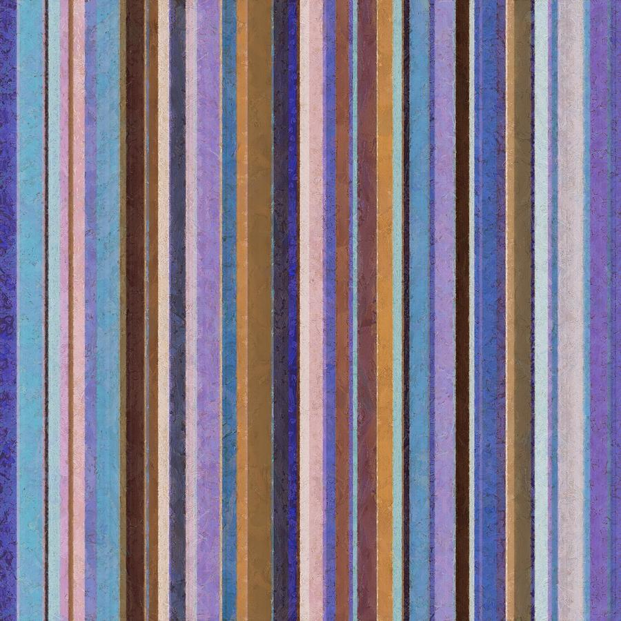 Textured Painting - Comfortable Stripes Ll by Michelle Calkins