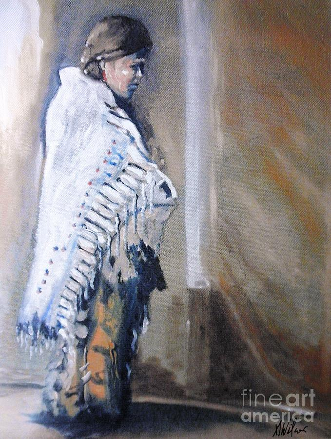 Native American Painting - Comforts Edge by Alan Wilcox