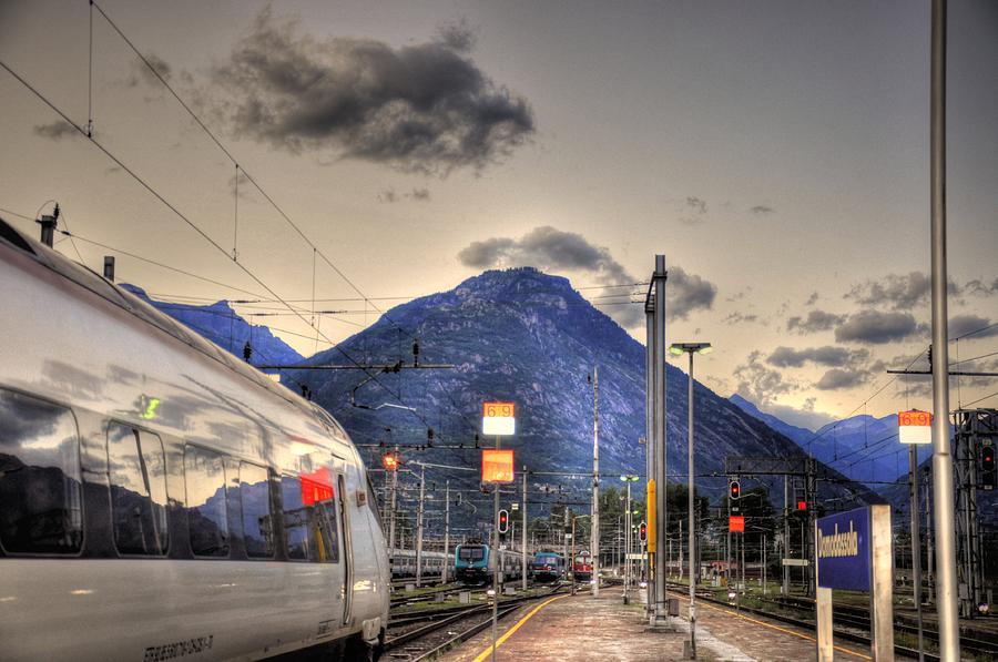 Sweden Digital Art - Coming Around The Mountain by Barry R Jones Jr