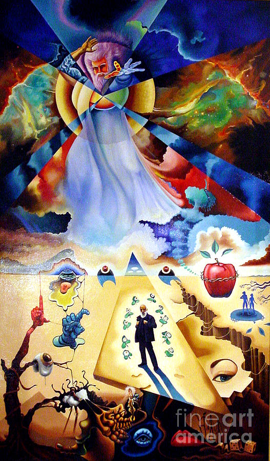 Revelation Painting - Coming In The Clouds by Peter Olsen