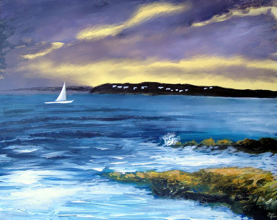 Sailboat Painting - Coming Of The Storm by Larry Cirigliano