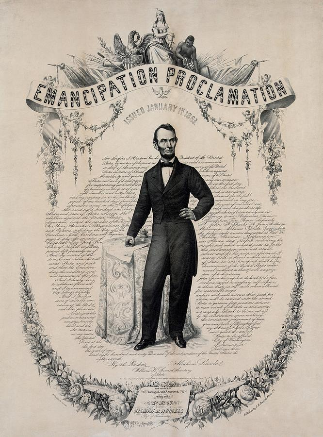History Photograph - Commemorative Print Of Abraham Lincoln by Everett