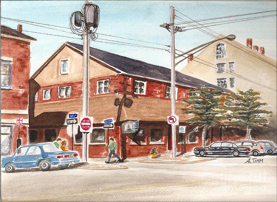 Commercial Street Pub Painting by Andrea Timm