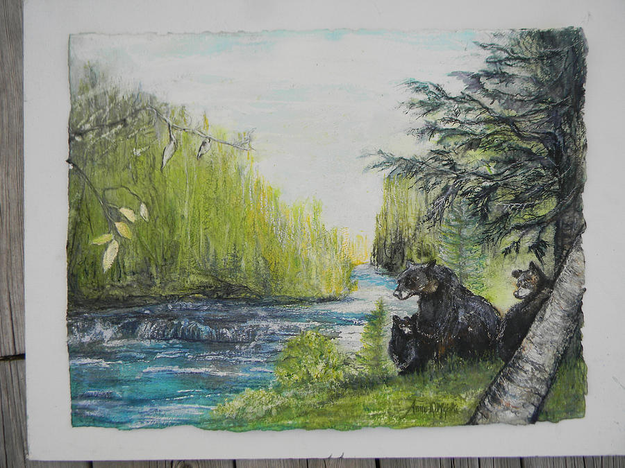 commission Pete's Dam 25yrs  by Anne-D Mejaki - Art About You productions