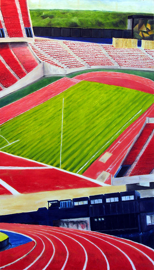 Track Painting - Commonwealth Stadium- Competition by Chris Ripley