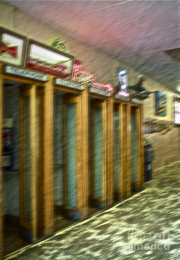 Telephone Booth Photograph - Communication Movement by Gwyn Newcombe