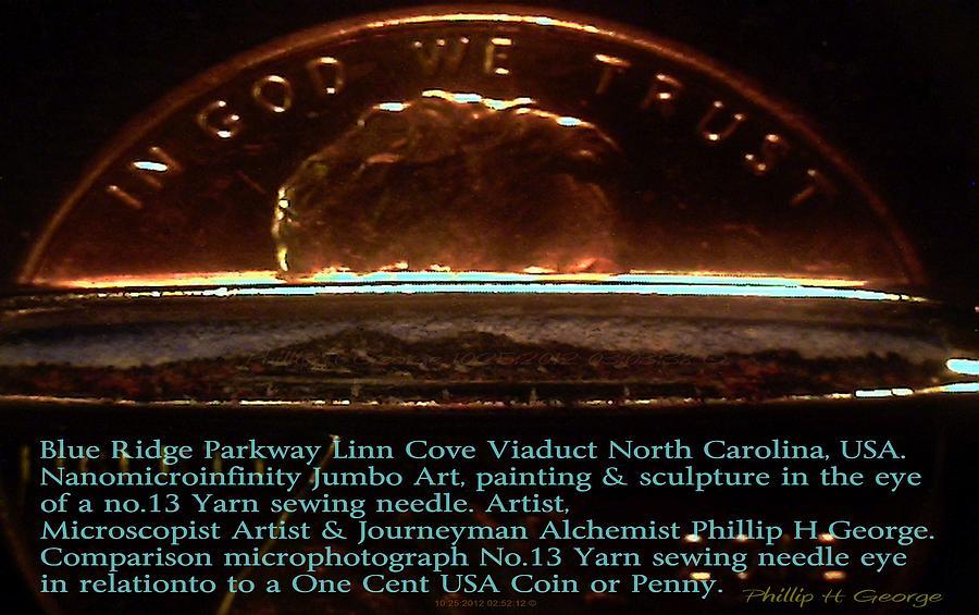 Bridge Painting - Comparison Microphotograph  by Phillip H George