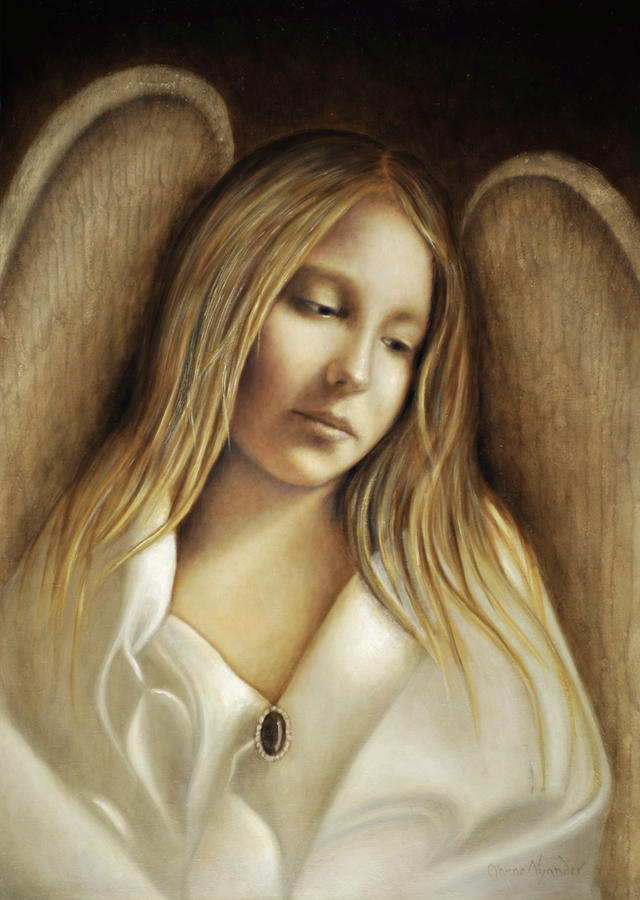 Angels Painting - Compassion by Nanne Nyander