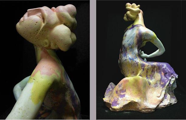 Figurative Sculpture - Compensation-power Pink-white-purple by Duane Paul