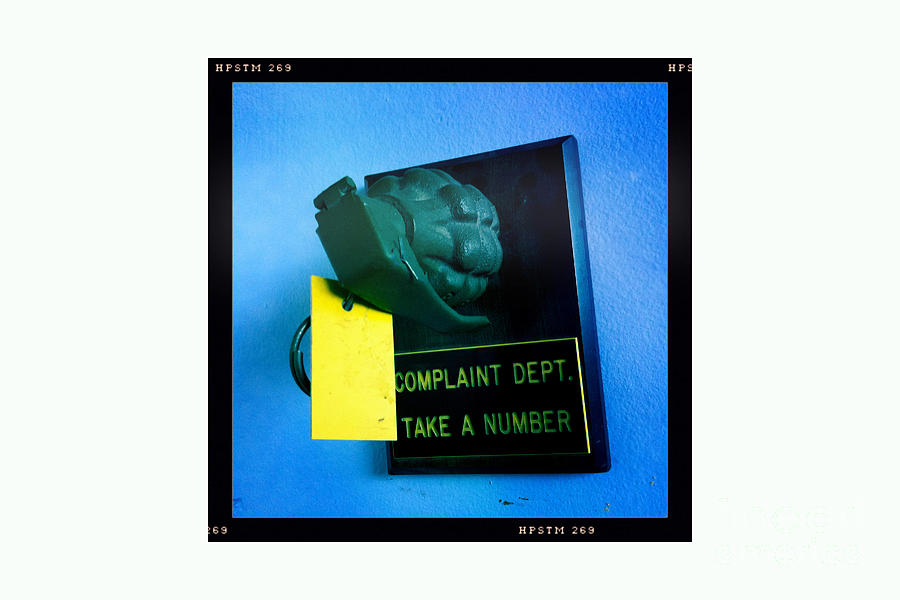 Granade Photograph - Complaint Dept by Nina Prommer