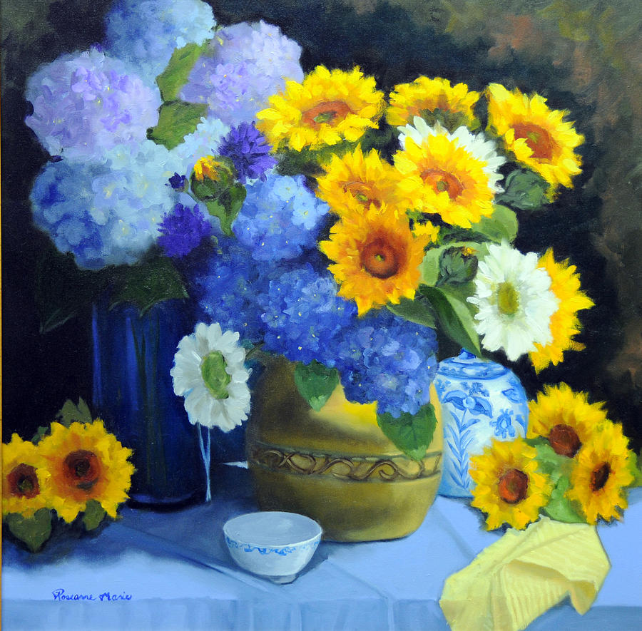 Complementary Colors Painting By Roseanne Marie Peters