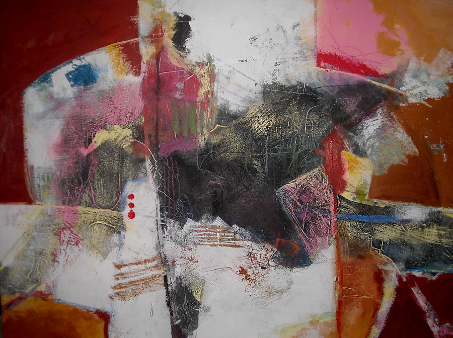 Abstract Paintings Painting - Composition 1 by Mohamed KHASSIF