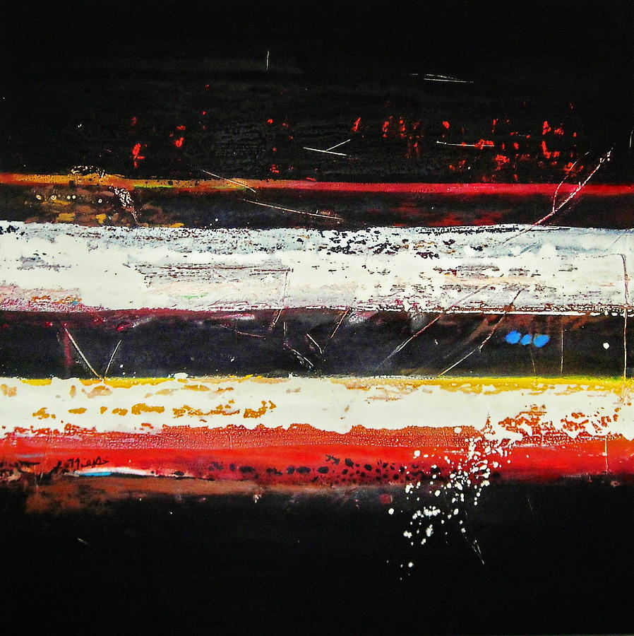 Abstract Paintings Paintings Painting - Composition Bl by Mohamed KHASSIF