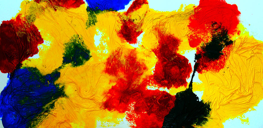 composition of primary colors painting by alexandra jordankova