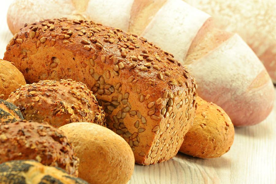 Bread Photograph - Composition With Bread And Rolls by T Monticello