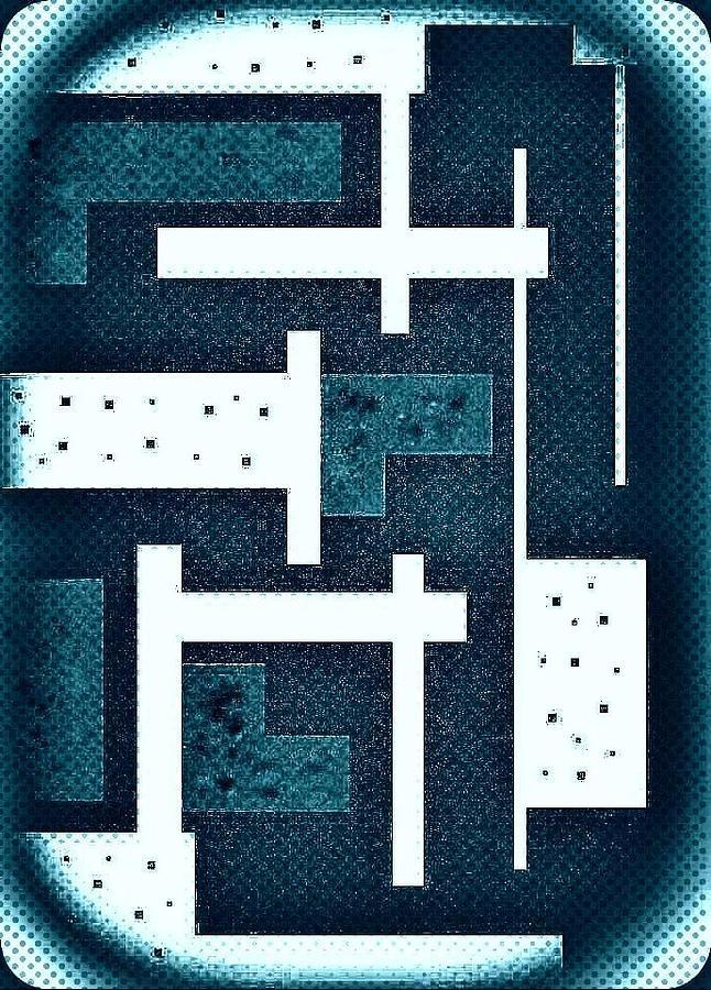 Abstract Digital Art - Compound by Richard Lloyd