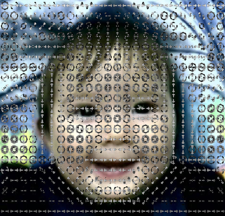 Baby Photograph - Computer Analysis Of A Smile On A Babys Face by Institute For Neural Computation, University Of California