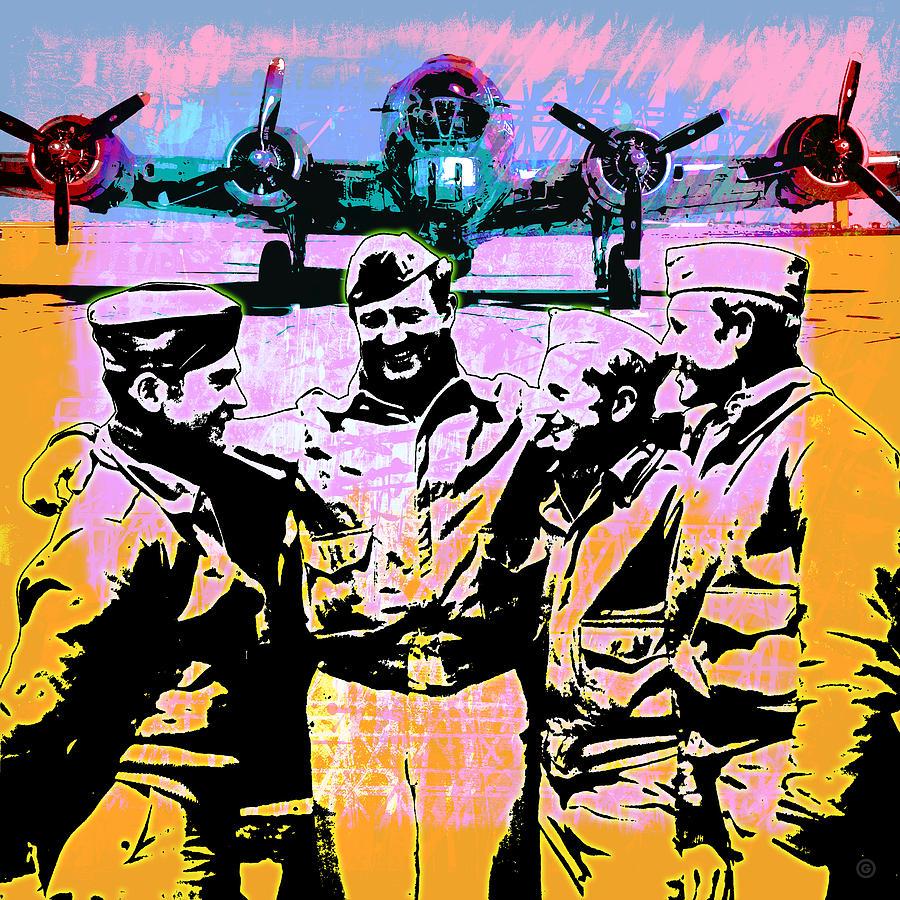 Warhol Digital Art - Comradeship by Gary Grayson