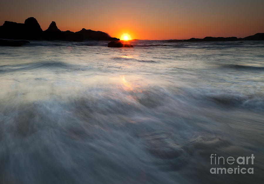 Seal Rock Photograph - Concealed By The Tides by Mike  Dawson
