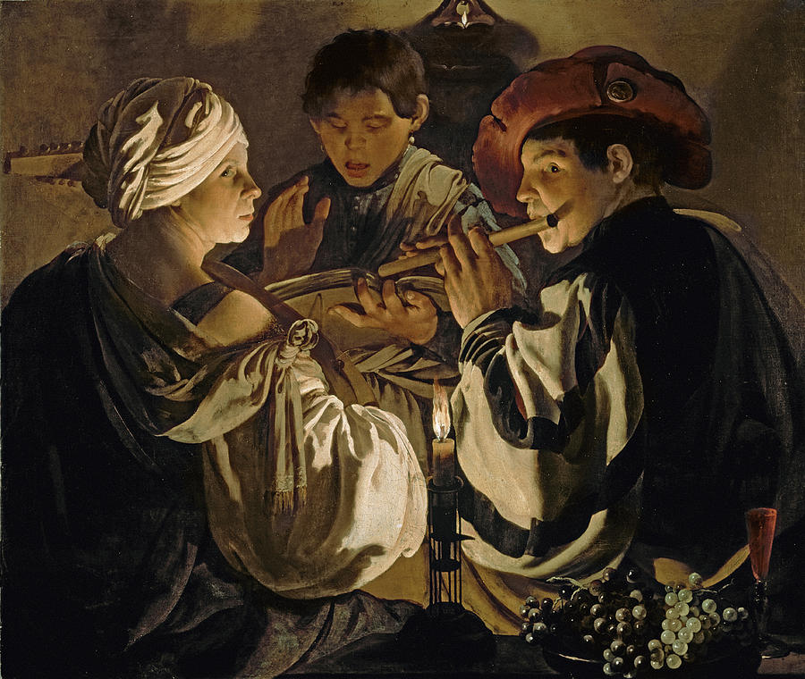 Group Painting - Concert by Hendrick Ter Brugghen