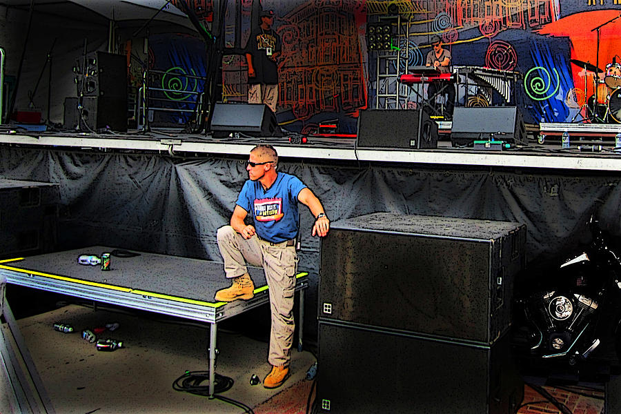 Concert Photograph - Concert Security Guy by Ric Soulen