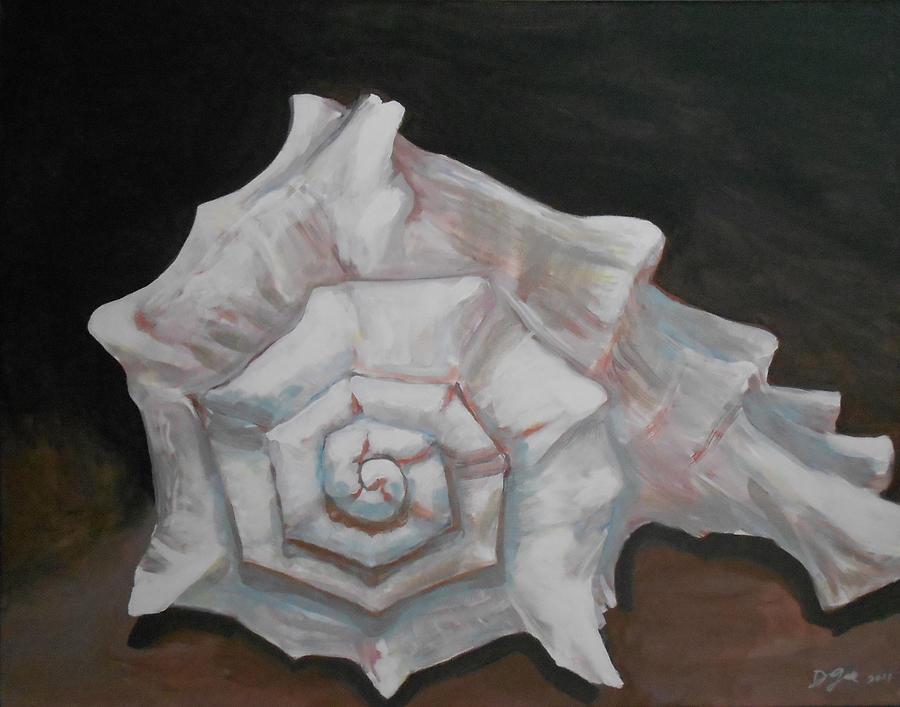 Paintings Painting - Conch Shell by Daniel Gale
