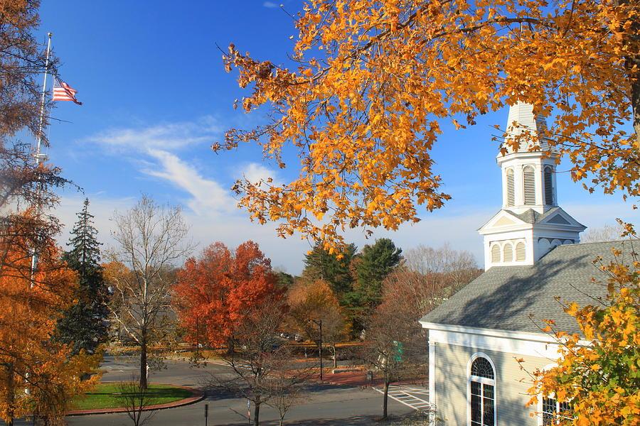 Town Common Photograph - Concord Massachusetts In Autumn by John Burk