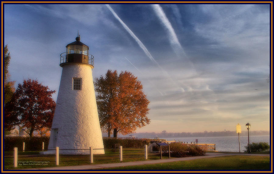 Prime Concord Pt Lighthouse In The Fall Photograph By Ben Michalski Download Free Architecture Designs Rallybritishbridgeorg