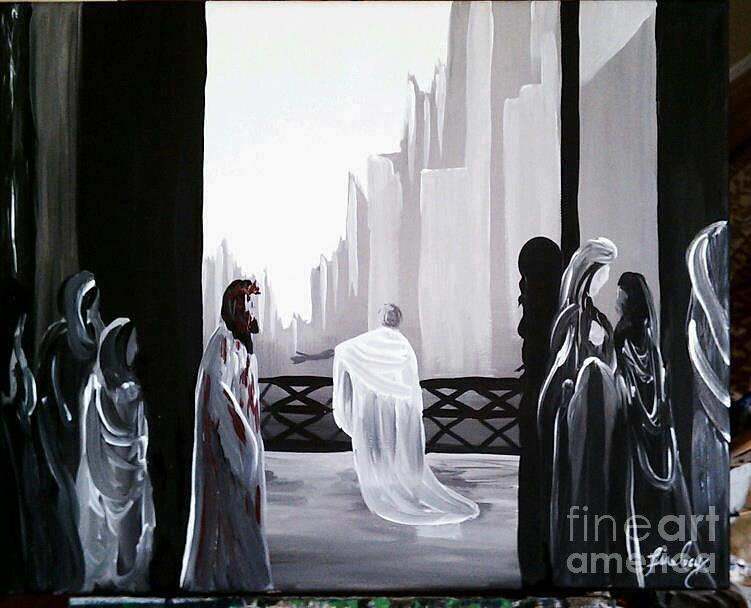 Pilate Painting - Condemned by Lisa Ivey