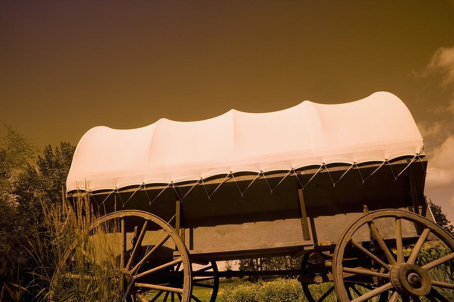 Prairie Photograph - Conestoga Wagon by Darren Greenwood