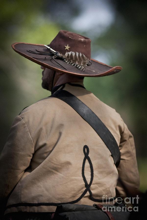 Reenactor Mixed Media - Confederate Cavalry Soldier by Kim Henderson
