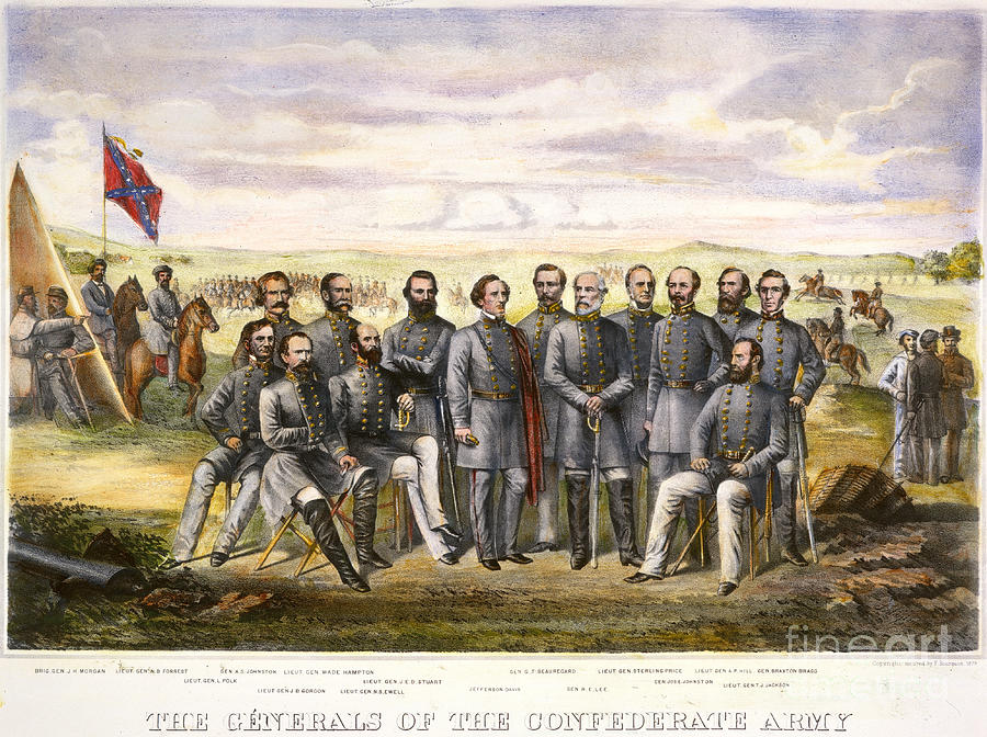 1860s Drawing - Confederate Generals by Granger