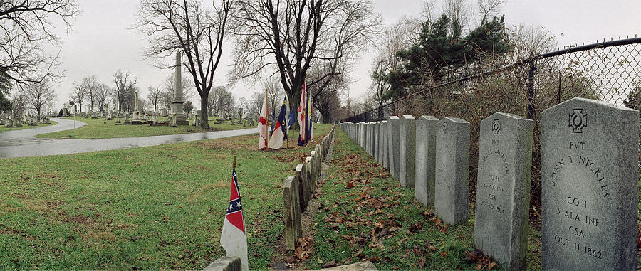 Civil War Photograph - Confederate Graves by Jan W Faul