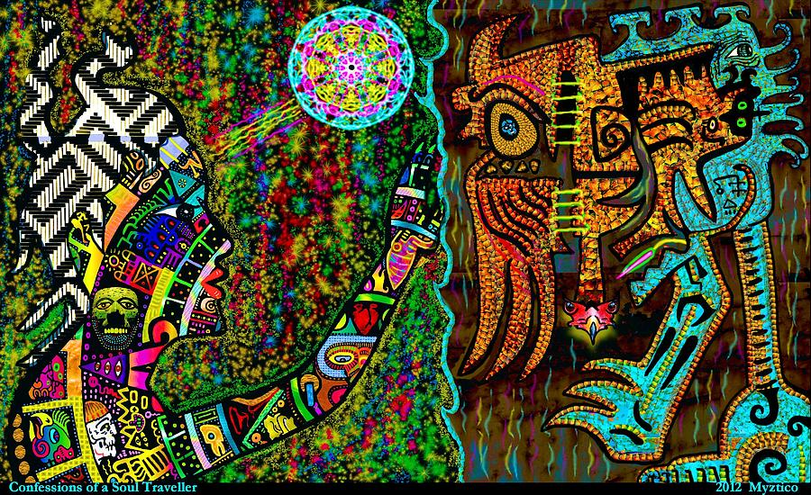 Interdimensional Mixed Media - Confessions Of A Soul Traveller by Myztico Campo