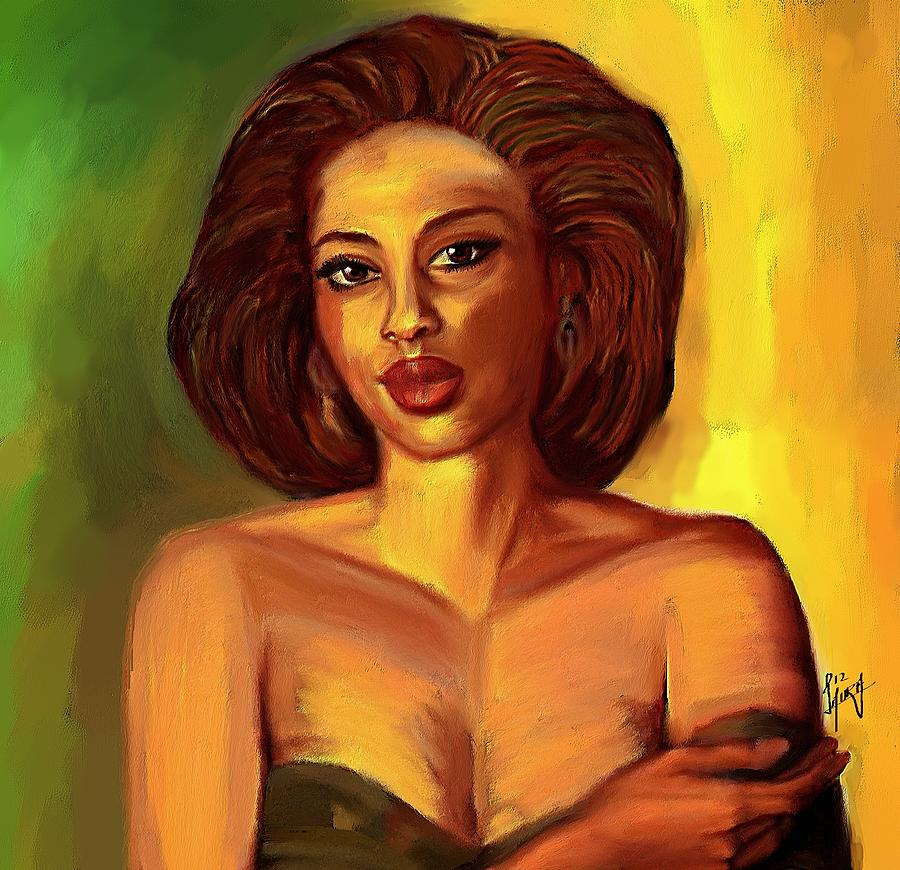 Woman Painting - Confident Beauty by Laura Fatta