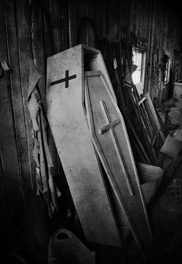 Coffin Photograph - Confined  by The Artist Project