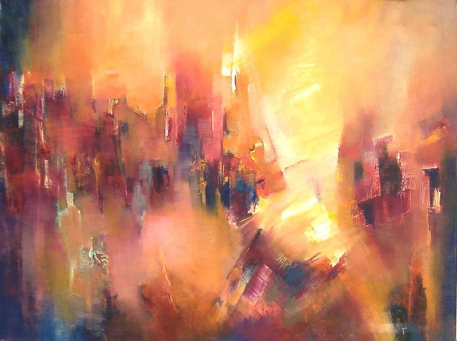 Landscape Mixed Media - Confluence by Alicia Valdivia