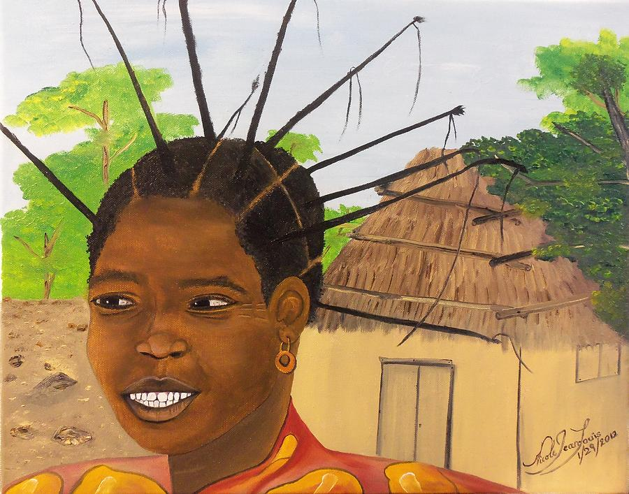 Congolese Woman Painting by Nicole Jean Louis - 60S Hairstyles